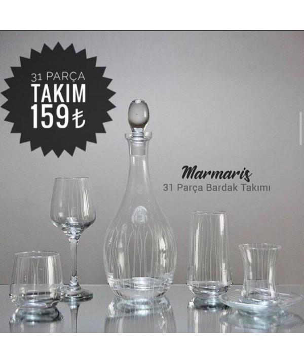 1396 MARMARİS BARDAK TAKIMI